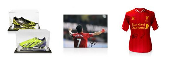 Luis Suarez & Steven Gerrard Signed Football Memorabilia