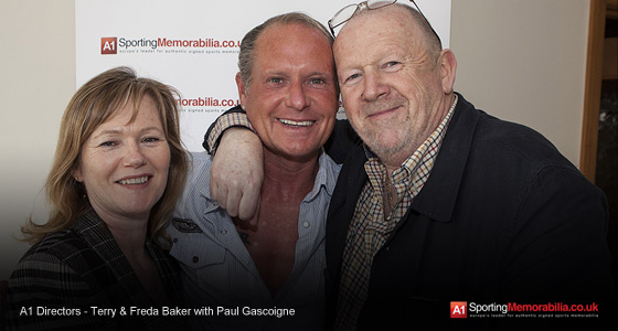 A1 Directors - Terry & Freda Baker with Paul Gascoigne