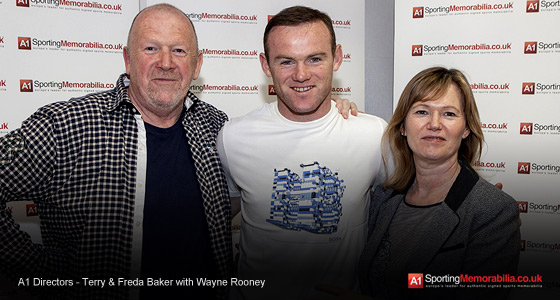 A1 Directors - Terry & Freda Baker with Wayne Rooney
