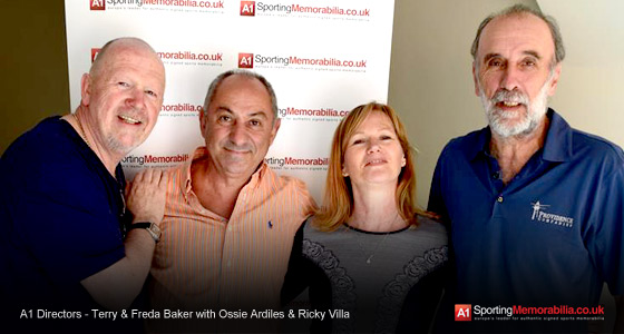 A1 Directors - Terry & Freda Baker with Ossie Ardiles & Ricky Villa