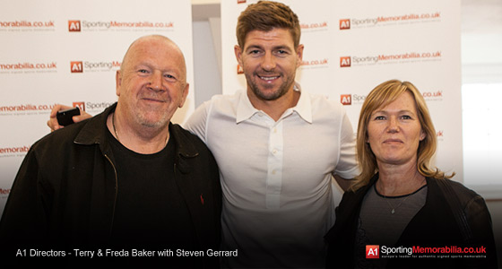 A1 Directors - Terry & Freda Baker with Steven Gerrard