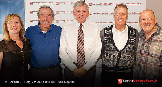 A1 Directors - Terry & Freda Baker with 1966 Legends