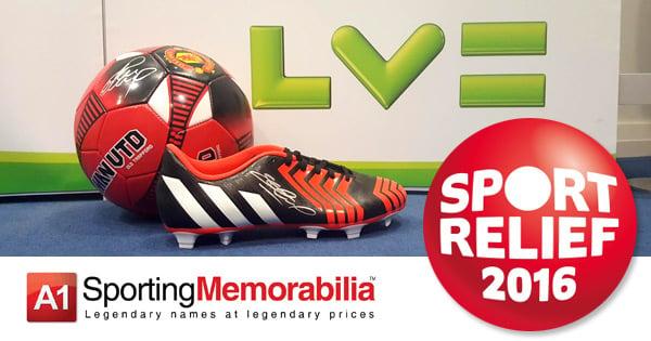 Sport Relief 2016 LV & A1 Sporting Memorabilia