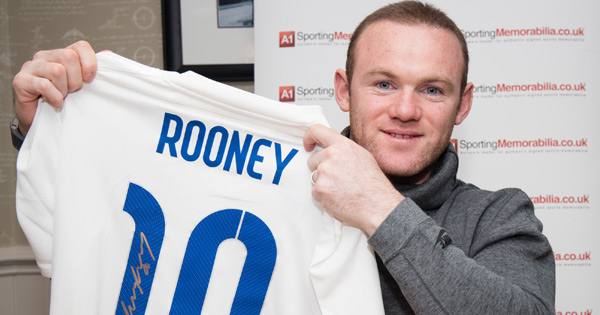 Wayne Rooney Signed England Shirt