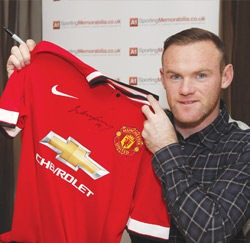 Wayne Rooney A1 Sporting Memorabilia Autograph Signing Session