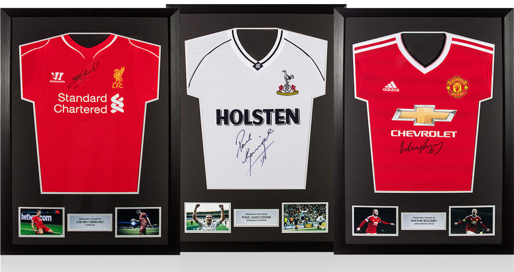 Wayne Rooney And Steven Gerrard Express Framed